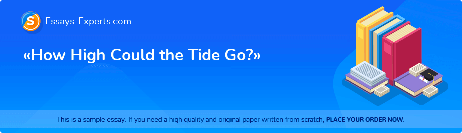 Free Essay Sample «How High Could the Tide Go?»