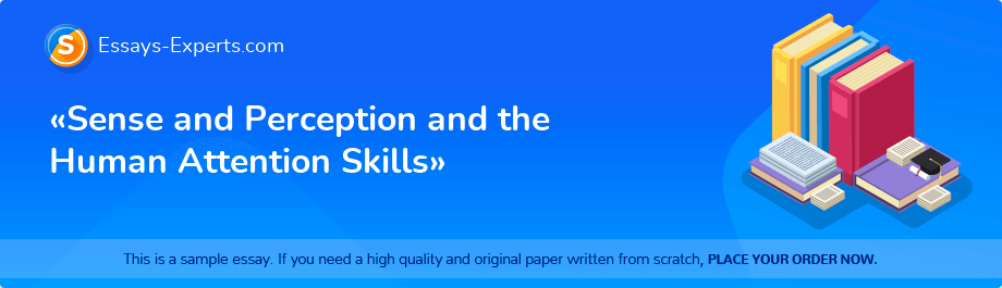 Free Essay Sample «Sense and Perception and the Human Attention Skills»