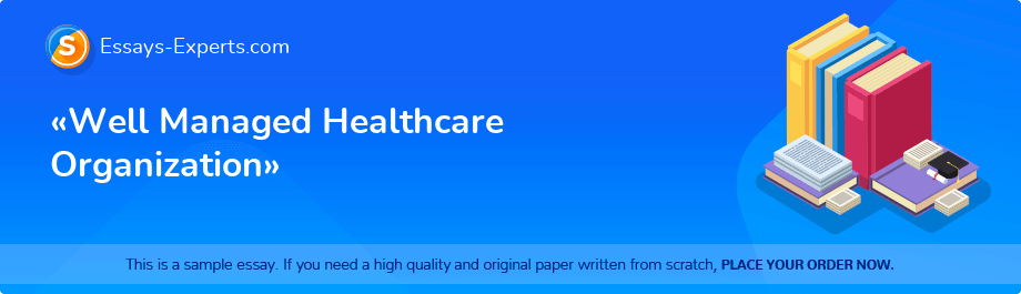 Free Essay Sample «Well Managed Healthcare Organization»