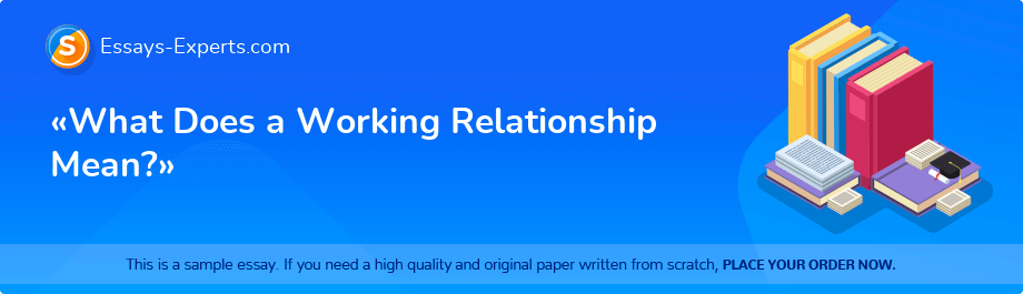 Free Essay Sample «What Does a Working Relationship Mean?»